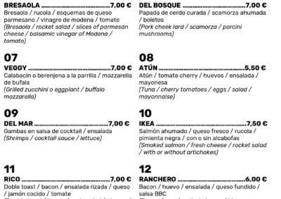 Menu Restaurant-Toast-Fuerteventura---1
